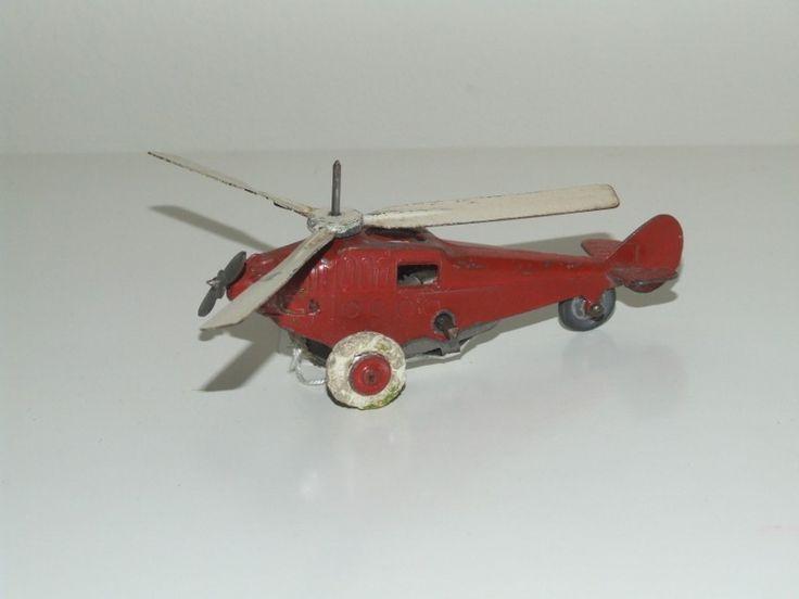 A R (France) Clockwork Gyrocopter - http://www.vintagediecast.co.uk/diecast-models/european-diecast/ar-autajon-et-roustan-france/a-r-france-clockwork-gyrocopter
