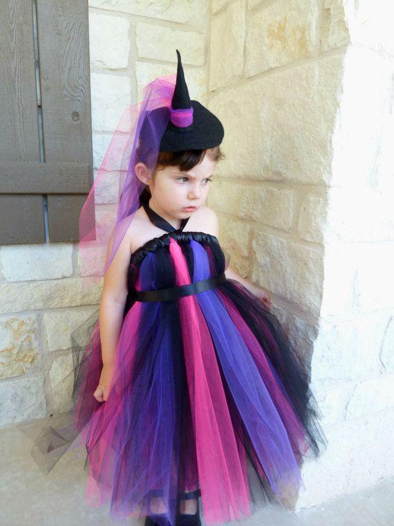 Witch Tutu Dress with Witch's Hat Headband Witch by KissHugDesign