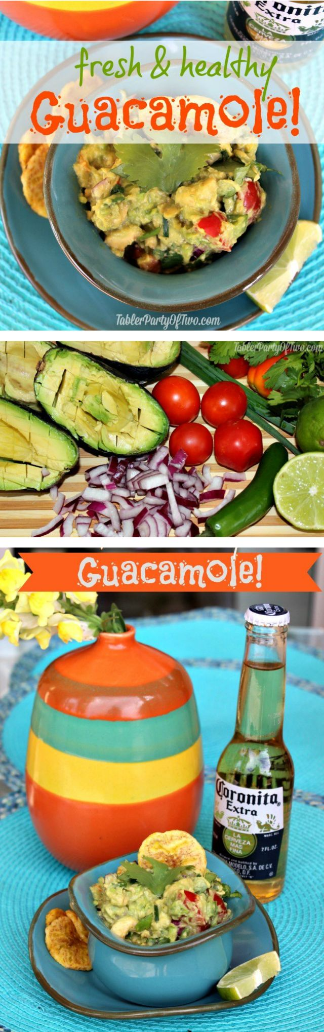 Fresh & Healthy Guacamole recipe- so delicious and full of nutrients! Perfect for any day of the week or a special party.