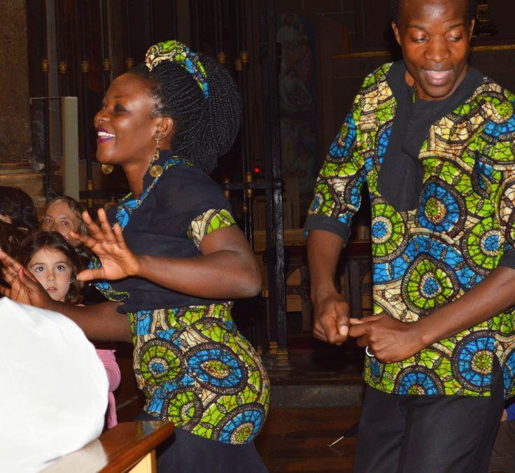 Gospel singers from Uganda performing in St. Peter's Church, Reus, Spain