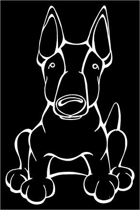 Miniature Bull Terrier Decal Dog