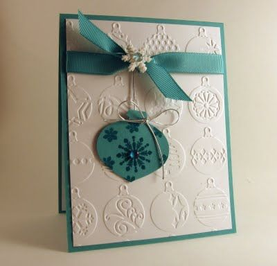 stamping up north: Ornaments- I wondered how to make embossing folders like that look good. :)