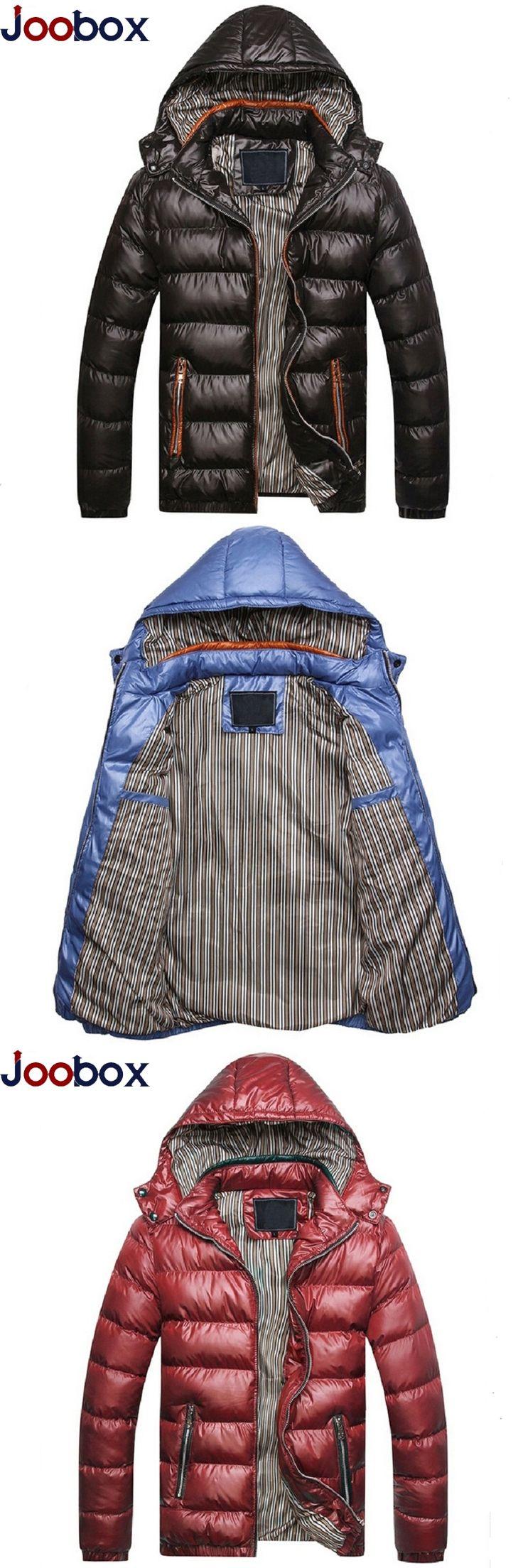 JOOBOX New 2017 Men Winter Jacket Fashion Hooded Thermal Down parka hombre Jacket coats Plus Size 3XL Chaquetas Plumas Hombre