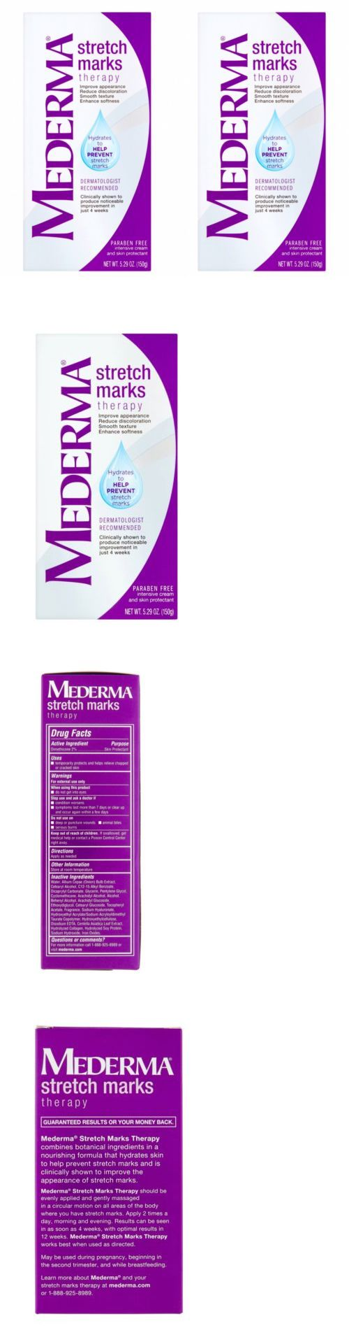Scar and Stretch Mark Reducers: Mederma Stretch Marks Therapy Set Of 2 - 5.29Oz Each New Exp. 08 2018 -> BUY IT NOW ONLY: $44 on eBay!