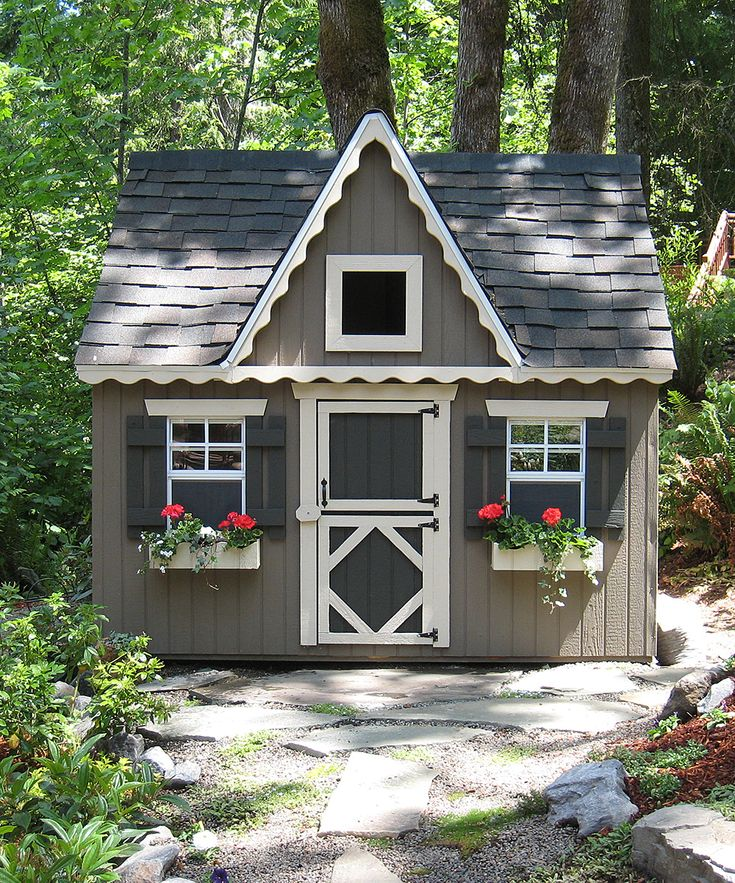 Little cottage co victorian backyard floored playhouse for Victorian playhouse