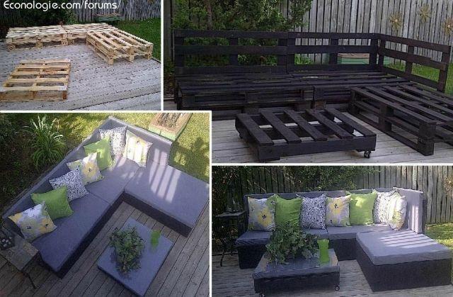 Idées éco deco avec récuperation de palettes de bois : Recyclage direct: idées, trucs et astuces