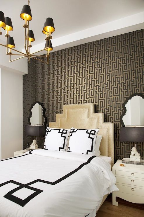 Lily z design bedrooms graham brown illusion for Brown bedroom wallpaper