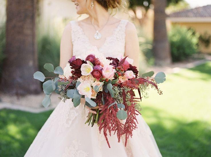 Peaches & Twine Photography - Ramsland Wedding - Omni Resort Montelucia Wedding Phoenix AZ - Phoenix Arizona Fine Art Film Wedding Photographer - Fall Wedding - Bouquet