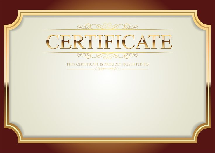 Certificate Template PNG Clip Art​ | Gallery Yopriceville - High-Quality Images and Transparent PNG Free Clipart