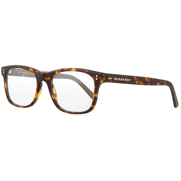 Burberry Square Optical Frames (1.445 VEF) ❤ liked on Polyvore featuring accessories, eyewear, eyeglasses, brown, tortoise shell glasses, tortoise shell eyeglasses, tortoise eyeglasses, tortoise glasses and clear eyeglasses