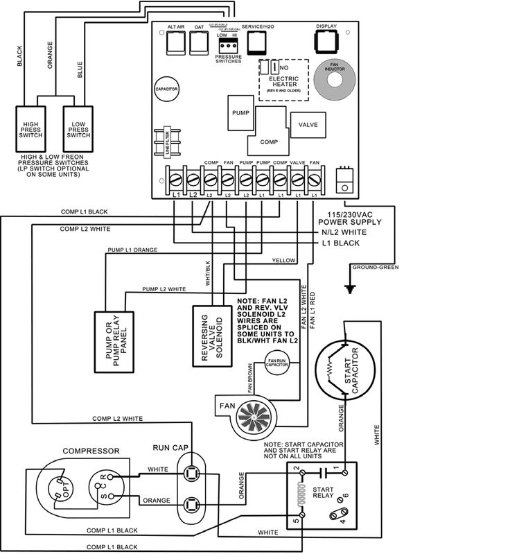 dometic a c capacitor wiring diagram