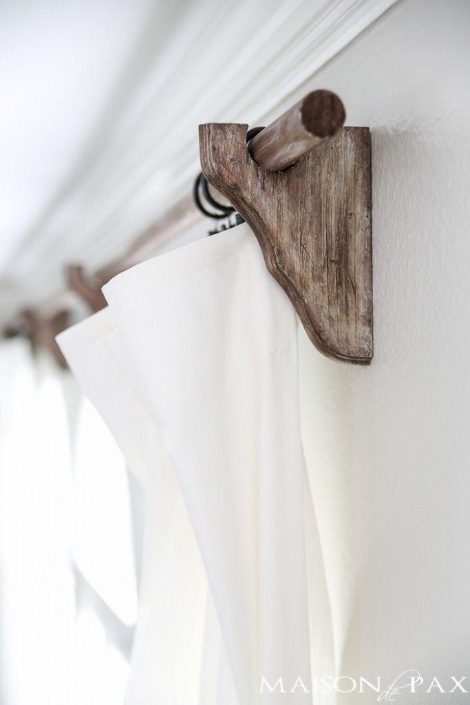 best 25 curtain rod holders ideas on pinterest natural. Black Bedroom Furniture Sets. Home Design Ideas