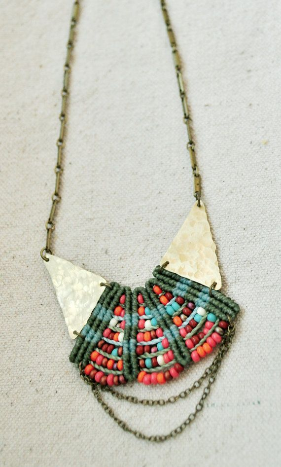 Woven Princess Necklace by AMiRAjewelry on Etsy