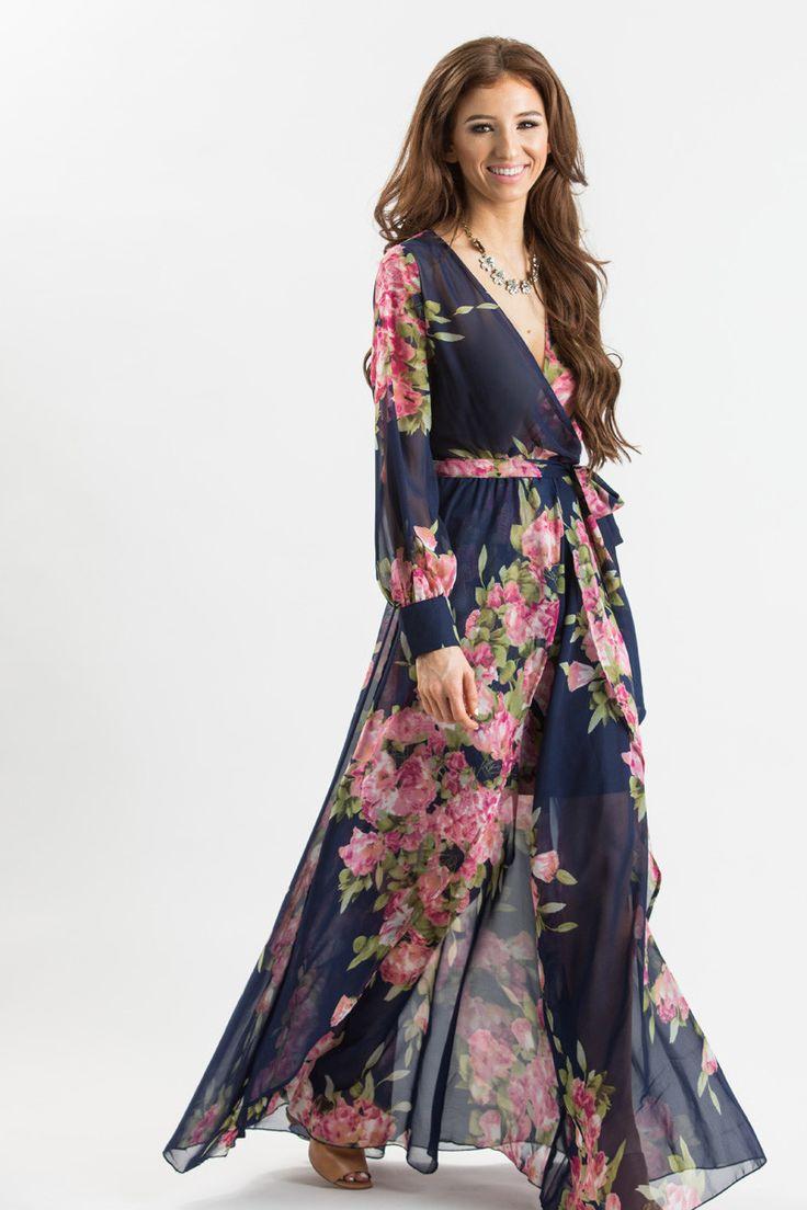 Ariana White Floral Maxi Dress | Shower dresses