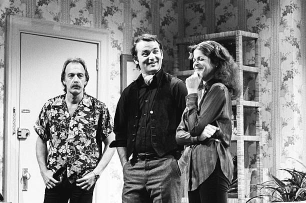 Howard Hesseman as Jerome Bill Murray as Scott Gilda Radner as Susan during the 'Old Flame' sketch on December 8 1979