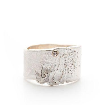 Ring in zilver met diamant | Wim Meeussen &CTRA Zilveren Juwelen Antwerpen