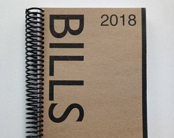 Bills Book Organizer 2018 with pouches. Budget planner. Receipt Tracker. Last Batch. Reduced due to a binding issue but still useable