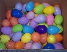 New 200 Plastic Easter Eggs Mixed Colors Hinged Fillable for Baskets Hunt Crafts