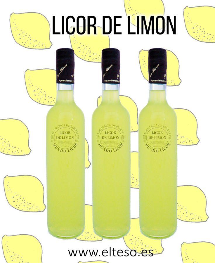 LICOR DE LIMON. Macerado de limones en aguardiente de orujo gallego y con una base de azúcar de caña. www.elteso.es