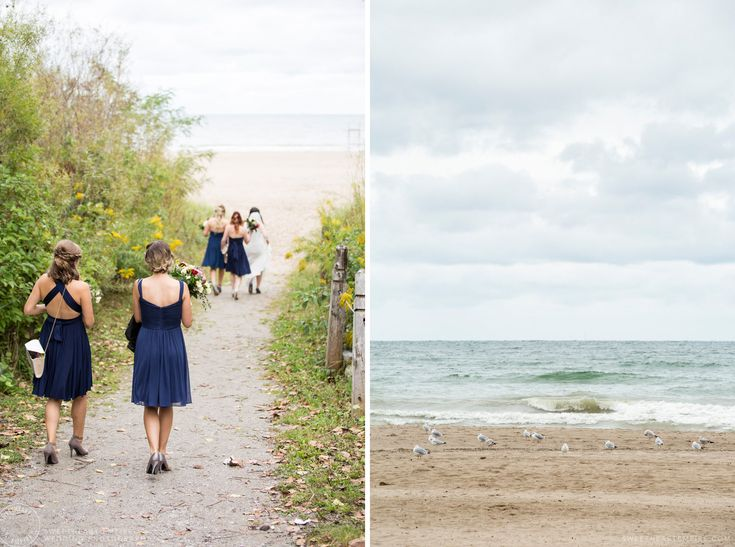 Walking down to the beach - Scarborough Bluffs Wedding, Bluffers Park #sweetheartempirephotography