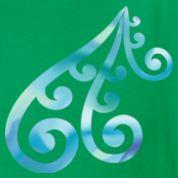 Green Koru - Maori Design from nature