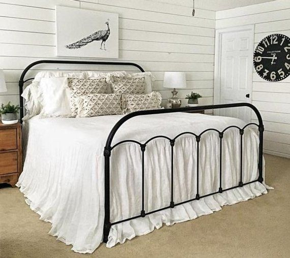 White Bedspread Natural Linen Bedspread White Linen Bed
