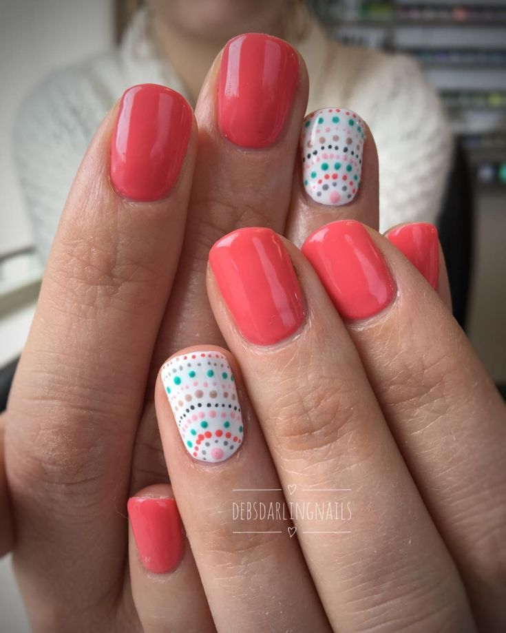 80+ simple nail art with dotting tool (2018)