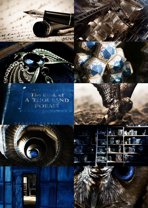 houses of hogwarts → ravenclaw I post a lot of ravenclaw I think. not because its my house (I cant bring myself to find out my house) but because I love the colors bronze and blue