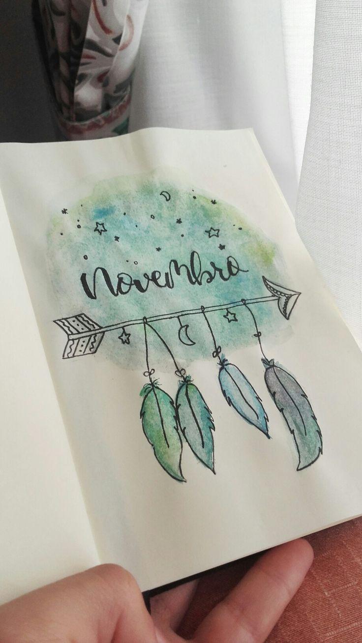 Titelseite des November-Bullet-Journals – #Bullet #cover #journal #November #page
