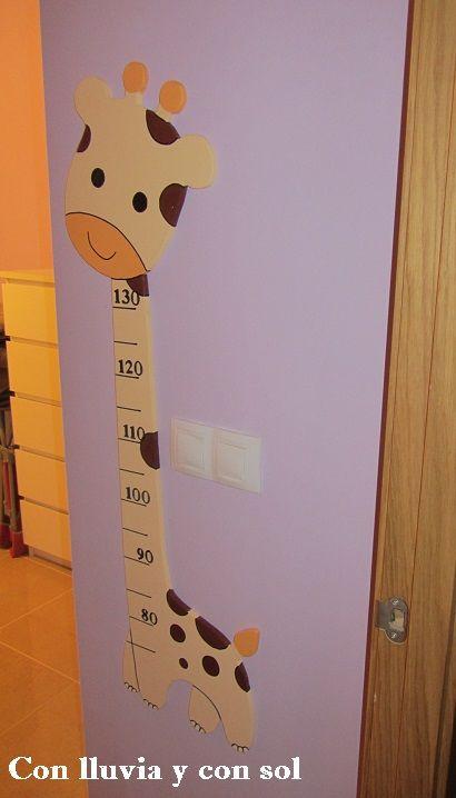 Decoración infantil personalizada y letras decorativas: MURAL DE GATITO Y MEDIDOR PARA LA HABITACIÓN DE NEUS