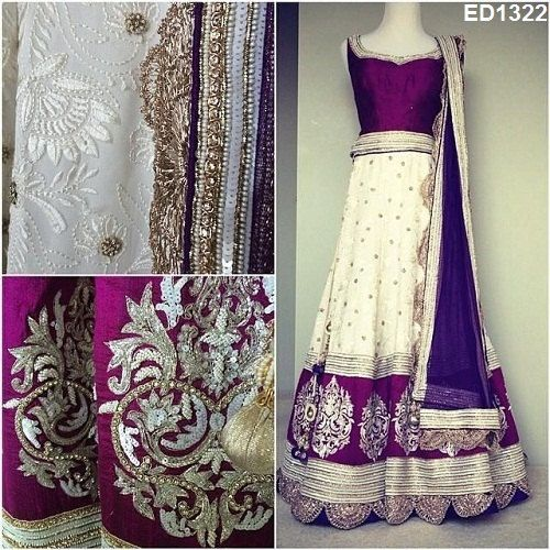Chandani Design Long Dresses Awesome Embroidery by Ethnicdresses