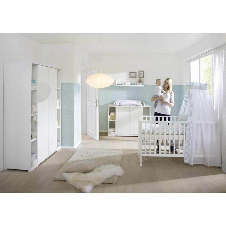 Chambre Scandinave Garcon : Armoire Armoire bébé 2 portes + rangement Maximo Blanc Armoire