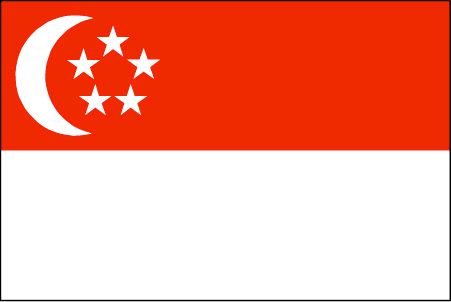 The Singapore flag was officially adopted on December 3, 1959.           The white crescent represents Singapore as a new nation, the five stars symbolize democracy