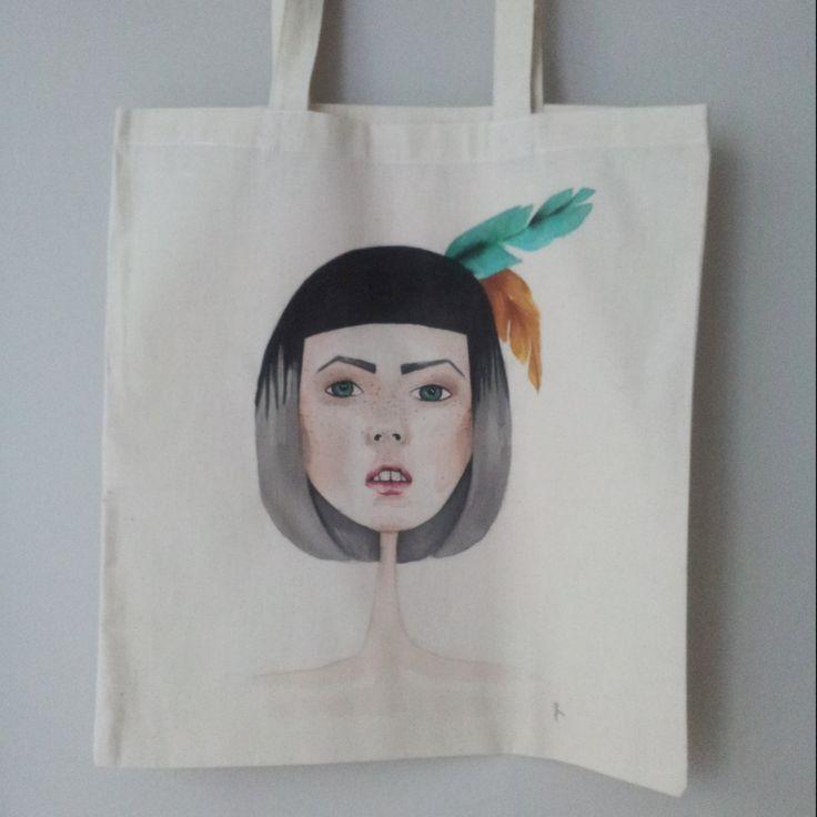 POC COTTON TOTE by byNaja on Etsy #handmade #cotton #art #paintoncottonbag