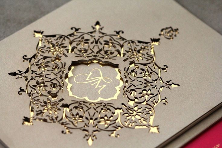Laser cut Hindu Wedding Invitation - ultimate luxury - by Azure Couture Correspondence