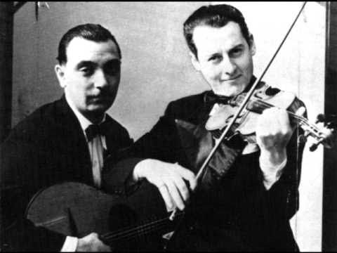 "Django Reinhardt, master guitarist, and Stephane Grappelli, master violinist, were swing musicians who were both Gypsies and formed one of the greatest partnerships in the history of jazz. This is ""Minor Swing"": http://youtu.be/9CDoJFmdFgA"