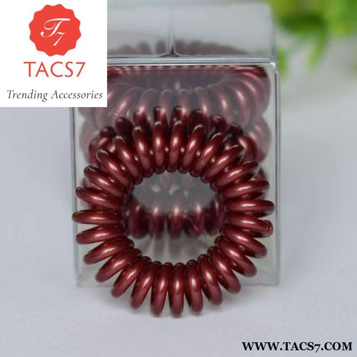 Elastic sprial telephine wire hair rope multicolors hair rubber bands