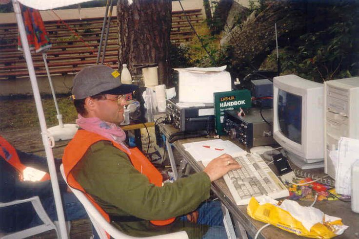 Fieldday Nesparken 1996 | LA5M the year before i become as ham in 1997 . But i was in the park With LA5HJA on this photo . Very good operator