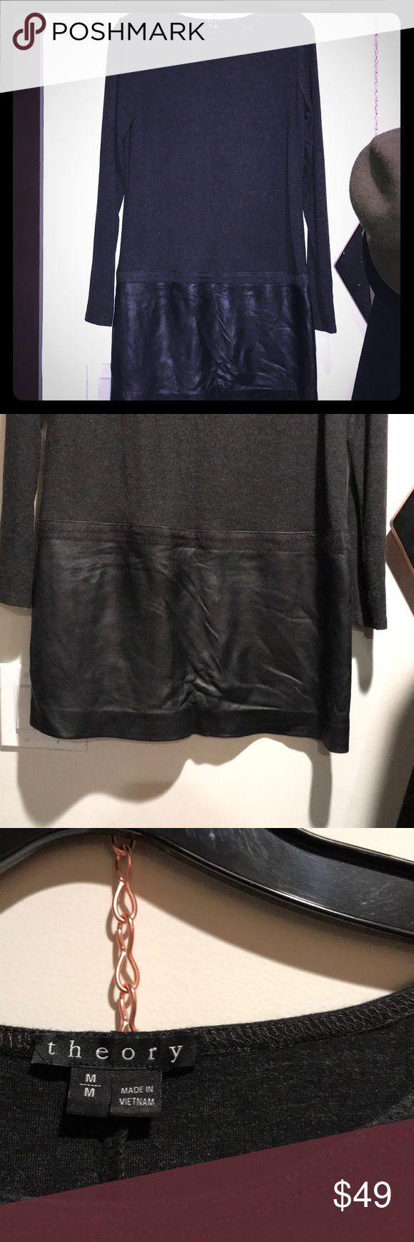 Amazing drop waist dress w leather skirt Amazing drop waist dress w leather skirt by Theory Theory Dresses Mini