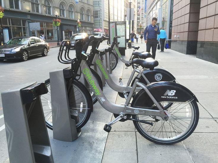 Deslocamento prático e barato pela cidade de Boston: aluguel de bicicletas. Confira no blog :)