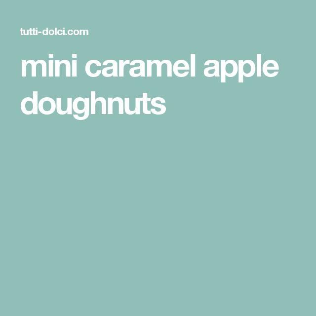 mini caramel apple doughnuts