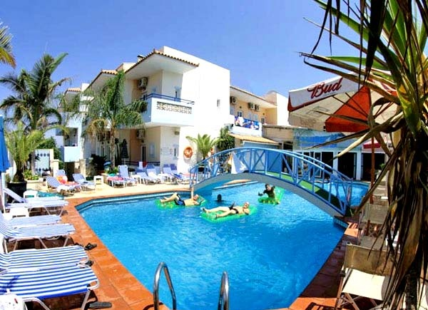 Just a mere 300m from the famous beach, offering unobstructed views of the Cretan Sea, is this well established Studio-Hotel of the Cat. C (2**) in land of 980m2, with 40 rooms, 80 beds, swimming pool and leisure facilities for sale...