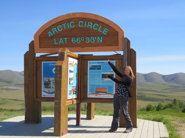 Reaching the Arctic Circle on Yukon's Dempster Highway, June 2014