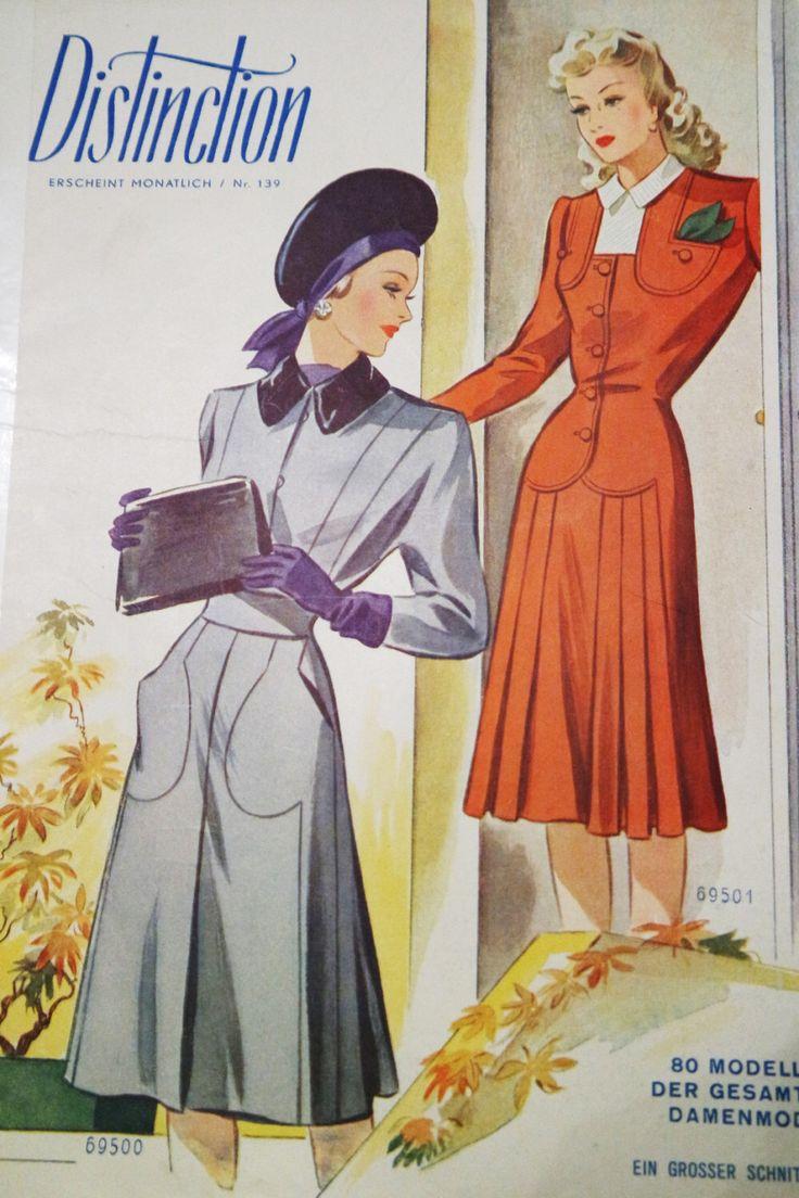 vintage distinzione di abbigliamento vintage modello rivista 1930s - tedesco degli anni quaranta modelli di abbigliamento modello abito modello cucito bambini di patern di FancyPatterns su Etsy https://www.etsy.com/it/listing/223977584/vintage-distinzione-di-abbigliamento
