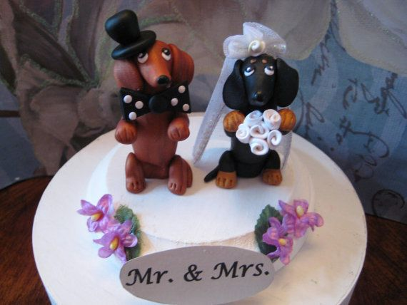 Dachshund wedding cakes