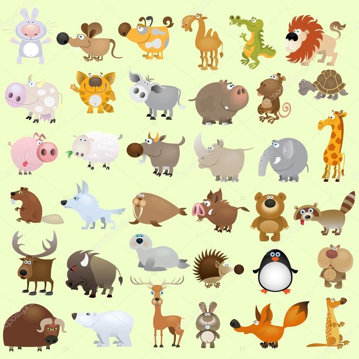 depositphotos_6642873-stock-illustration-cartoon-animal-set.jpg (1024×1024)