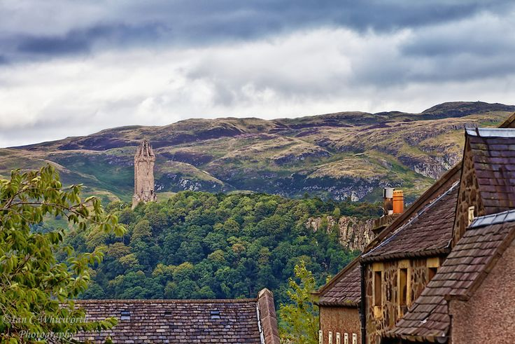 The National Wallace Monument as seen from the town of Stirling in Scotland.