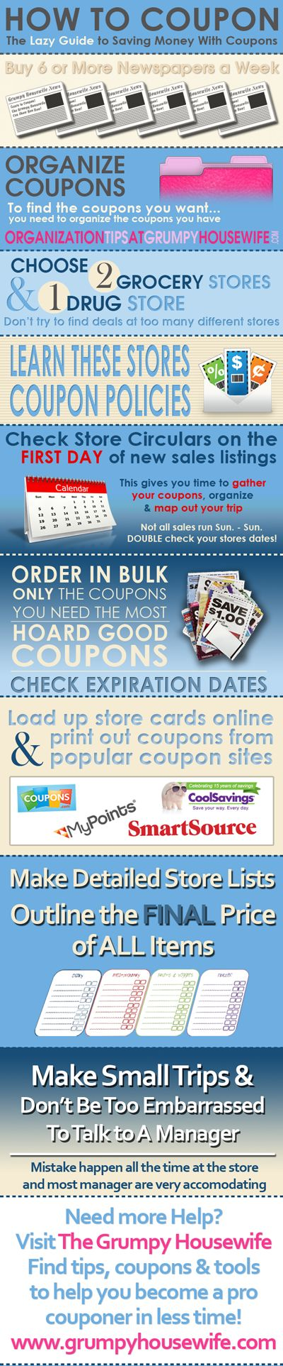 How to Coupon - The Lazy's Man's (or Woman's) Guide to Couponing! Really Cute, and Informative!