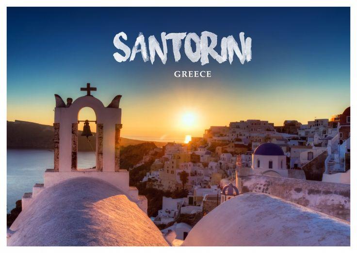 Sonnenuntergang in Santorin   Urlaubsgrüße   Echte Postkarten online versenden   MyPostcard.com