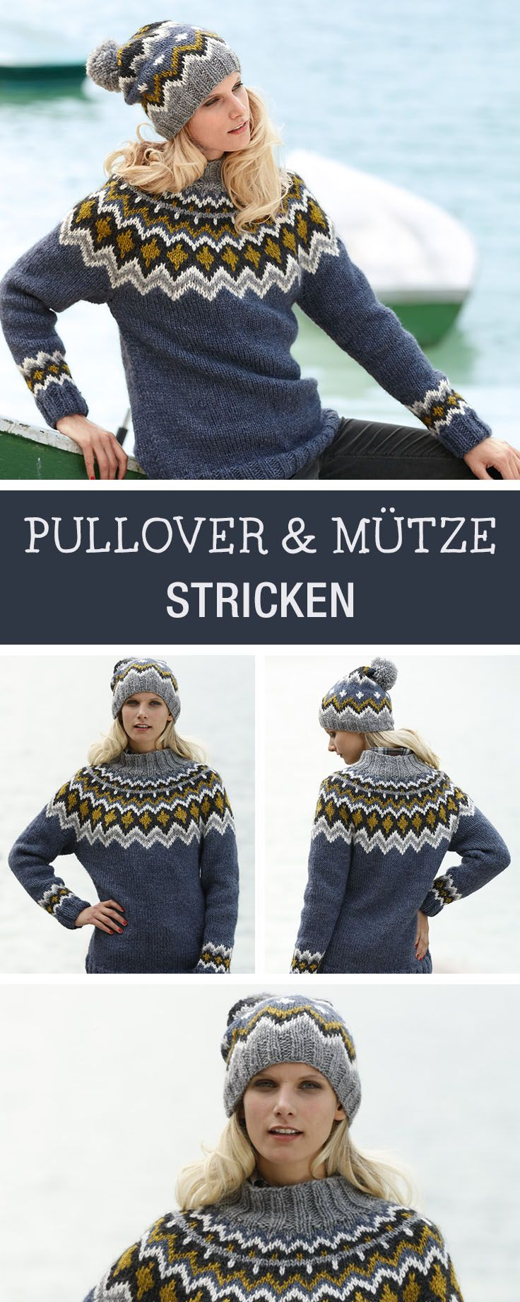 DIY-Anleitung: Pullover mit Jacquard-Muster stricken, Muster stricken / knitting diy and pattern: how to knit a pullover with jacquard pattern via DaWanda.com